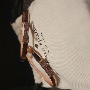 Kate spade rose color gold bracelet set of 2
